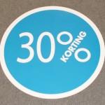 Cirkel blauw 30