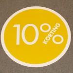 Cirkel geel 10