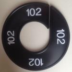 Maatring 9cm zwart 102