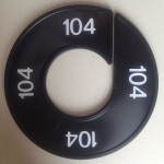Maatring 9cm zwart 104