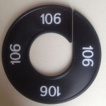Maatring 9cm zwart 106