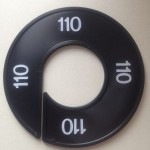 Maatring 9cm zwart 110