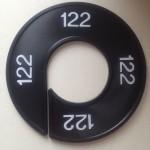 Maatring 9cm zwart 122