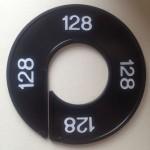 Maatring 9cm zwart 128