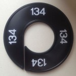 Maatring 9cm zwart 134