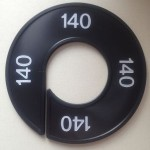 Maatring 9cm zwart 140