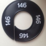Maatring 9cm zwart 146