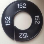 Maatring 9cm zwart 152