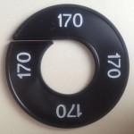 Maatring 9cm zwart 170