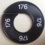 Maatring 9cm zwart 176