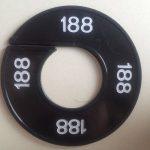 Maatring 9cm zwart 188