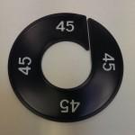 Maatring 9cm zwart 45