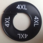 Maatring 9cm zwart 4XL