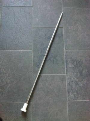 buis chroom verstelbaar 100 170 cm