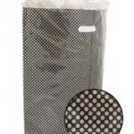 Plastic draagtas zwart met zilveren stip