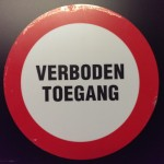 Pickup Picto Verboden Toegang