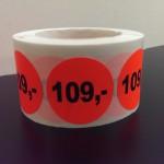 Fluor rood 109,-