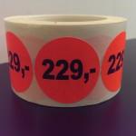 Fluor rood 229,-