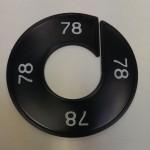 Maatring 9cm zwart 78