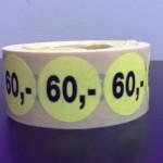 60,- fluor geel