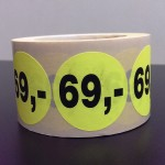Fluor geel 69,-