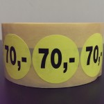 Fluor geel 70,-