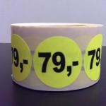 Fluor geel 79,-
