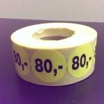 Fluor geel 80,-