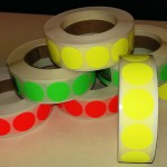Fluor sticker 20 mm geel