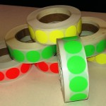 Fluor sticker 20 mm groen