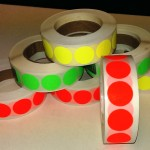 Fluor sticker 20 mm rood