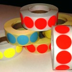 Fluor sticker 27 mm rood