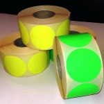 Fluor sticker 50 mm groen