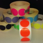 Sticker 35mm fluor rood