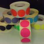 Sticker 35mm fluor roze