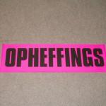 Opheffings fluor roze