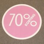 Cirkel roze 70