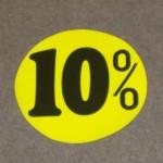 Korting cirkel fluor geel 10