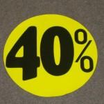 Korting cirkel fluor geel 40