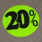 Korting cirkel fluor groen 20