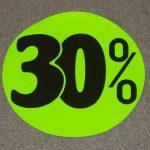 Korting cirkel fluor groen 30