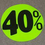 Korting cirkel fluor groen 40
