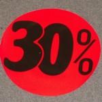Korting cirkel fluor rood 30