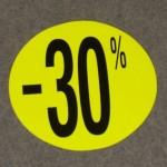 Korting cirkel klein fluor geel 30