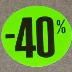 Korting cirkel klein fluor groen 40