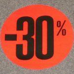 Korting cirkel klein fluor rood 30