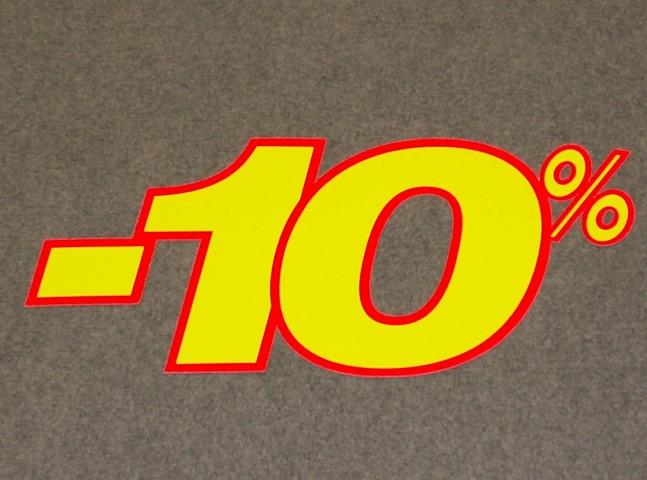 Korting percentage fluor geel rood 10