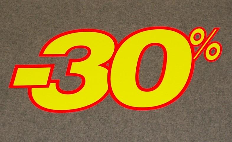Korting percentage fluor geel rood 30