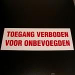 Toegang verboden