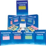 Cloakroom tickets assorti